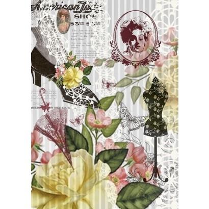 Imagination Crafts Decoupage Rice Paper Pattern 128