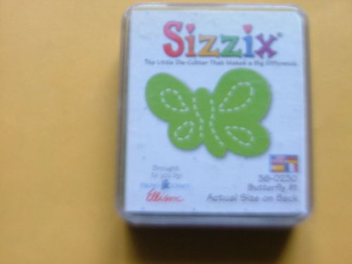 Sizzix Original Green Die-Small Butterfly#1